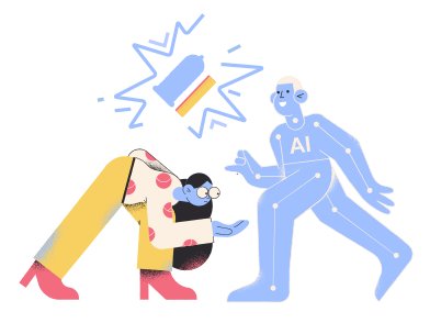 style Machine learning engineer surprised by results of work images in PNG and SVG | Icons8 Illustrations