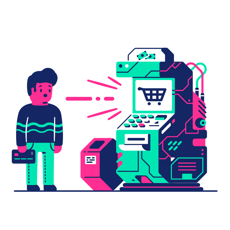 Shopping terminal Clipart illustration in PNG, SVG
