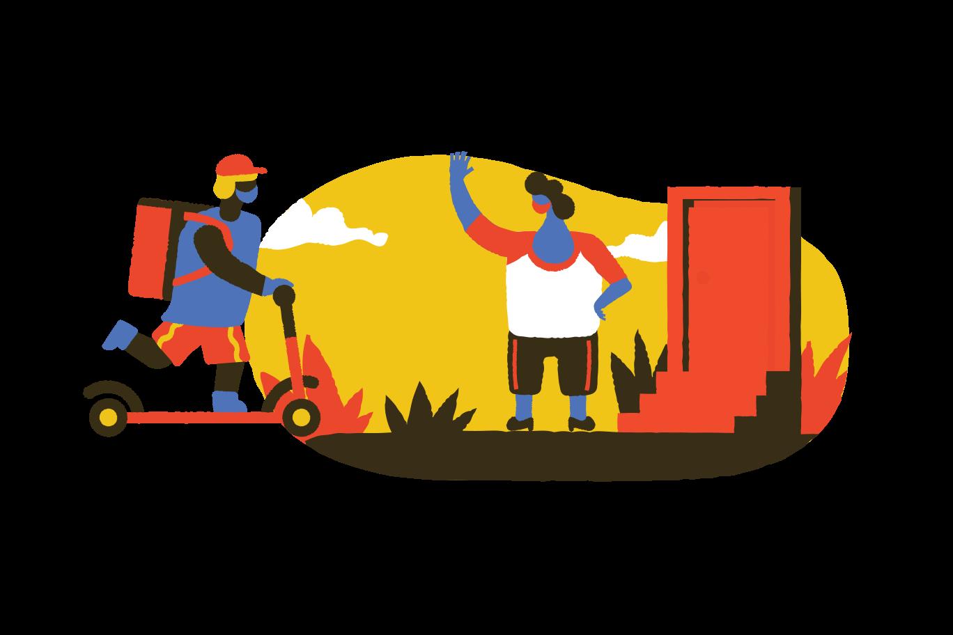 Safe delivery Clipart illustration in PNG, SVG
