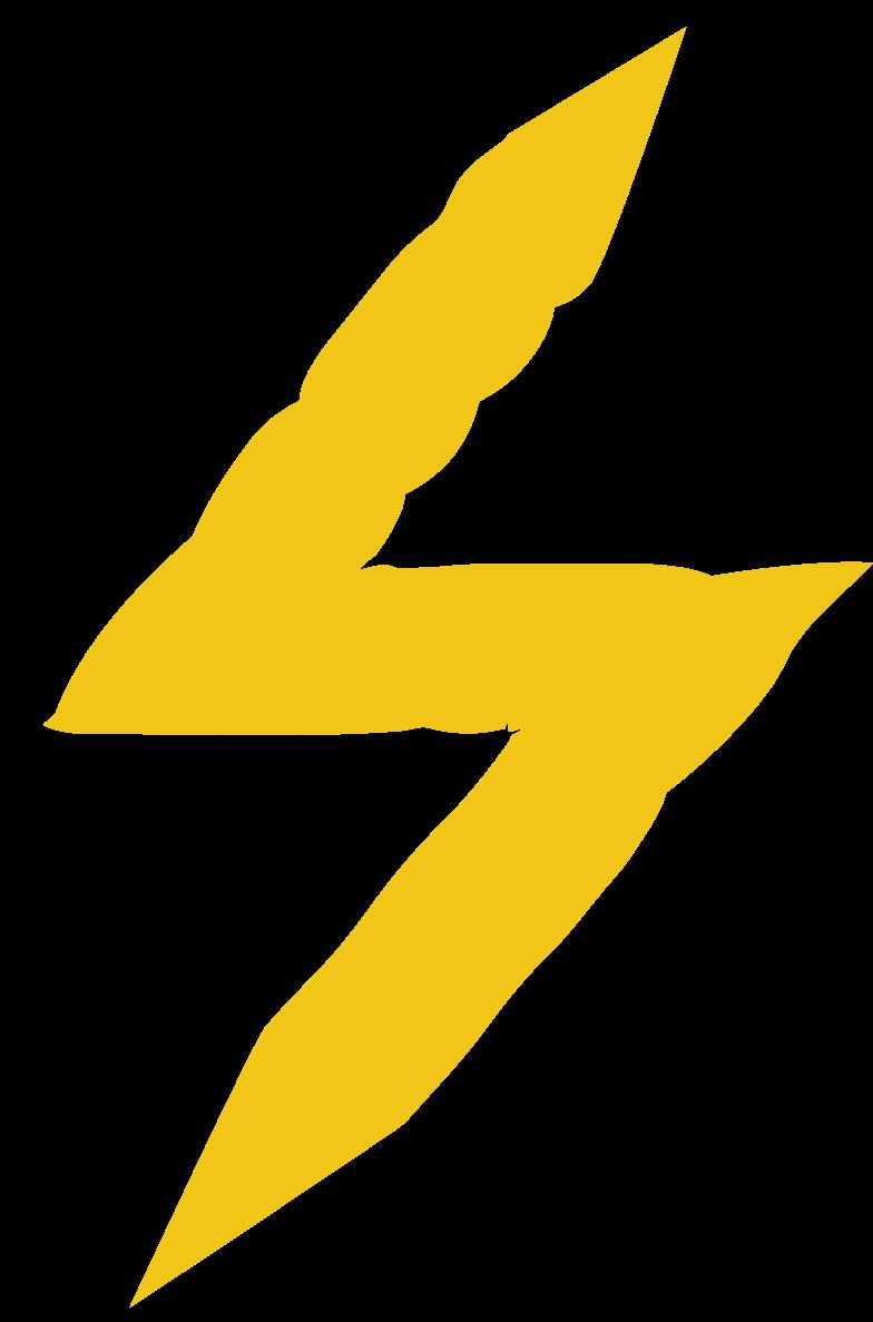 lighting bolt Clipart illustration in PNG, SVG