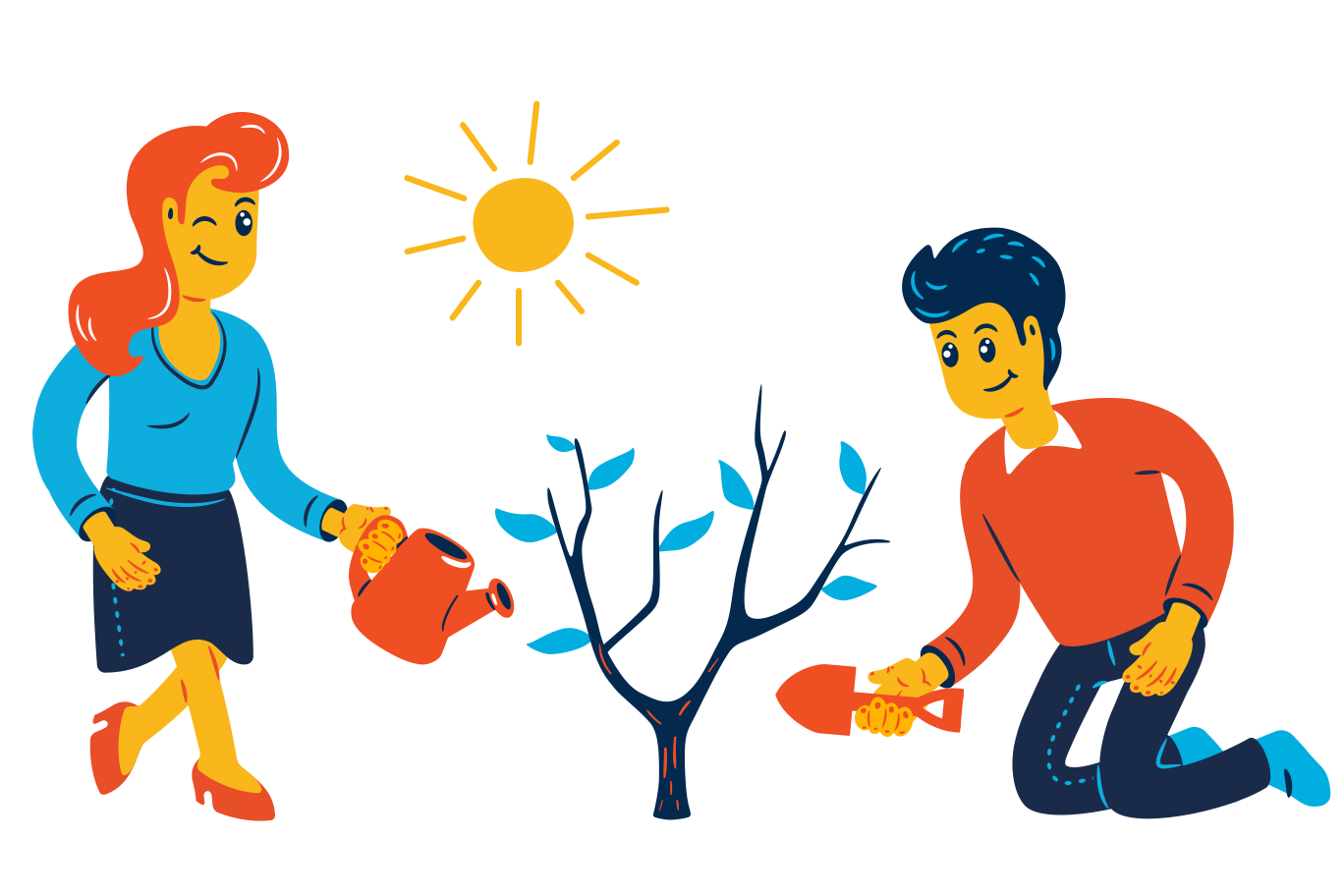 Ecology care Clipart illustration in PNG, SVG