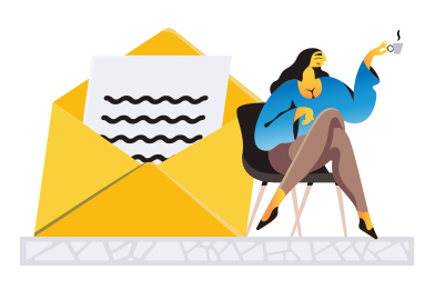 style Receiving message images in PNG and SVG | Icons8 Illustrations