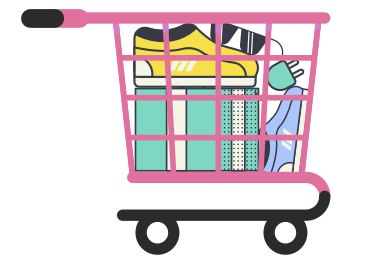 style Shopping cart full of goods images in PNG and SVG | Icons8 Illustrations