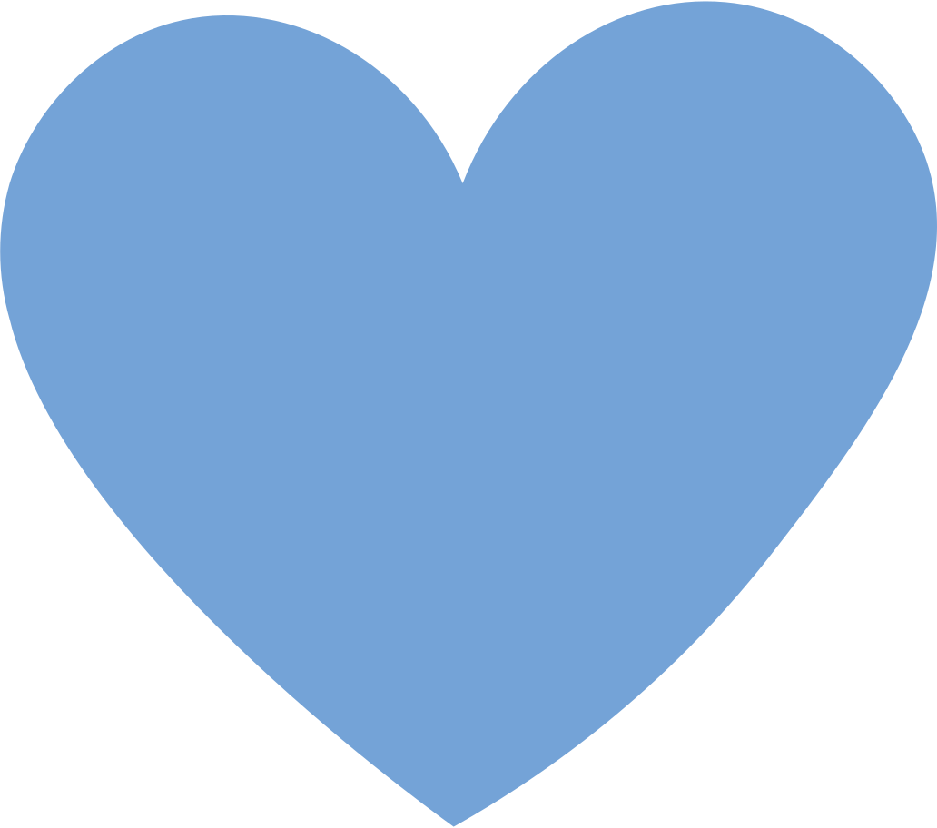 heart blue Clipart illustration in PNG, SVG