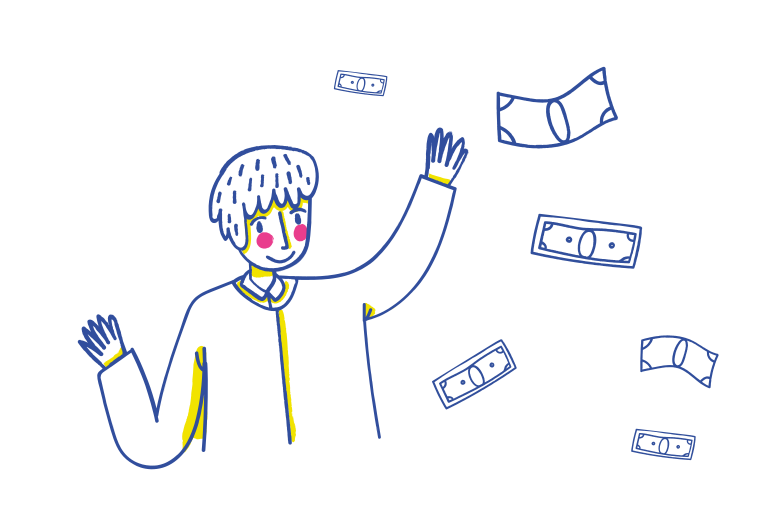 Wasting money Clipart illustration in PNG, SVG