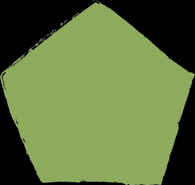 pentagon-dark-green Clipart illustration in PNG, SVG