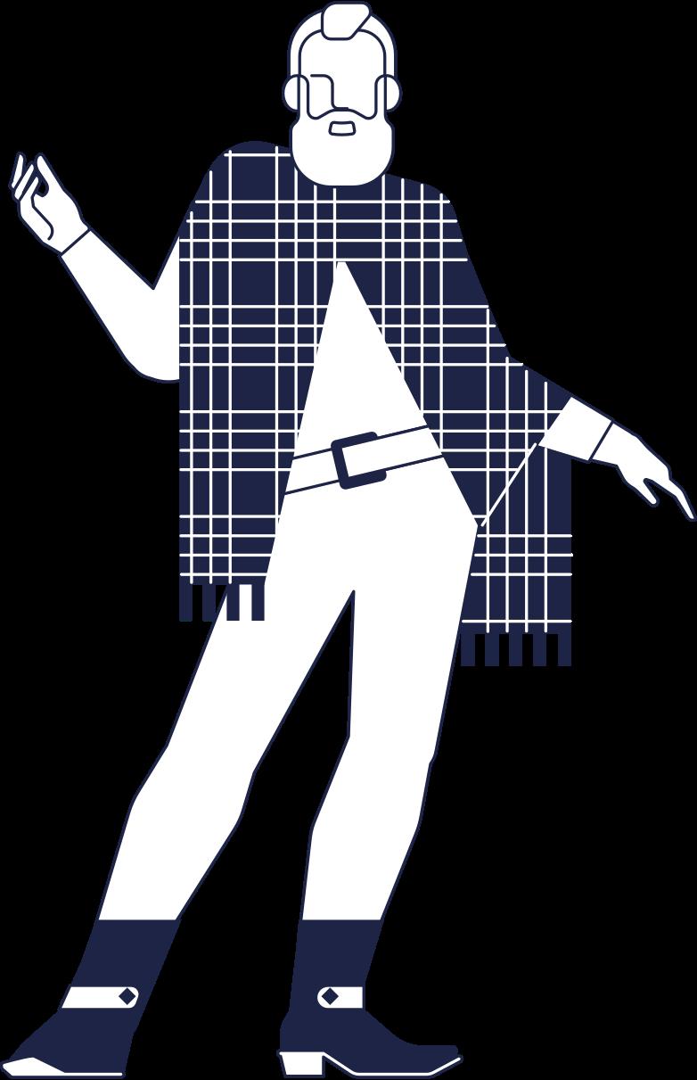 santa hipster Clipart illustration in PNG, SVG