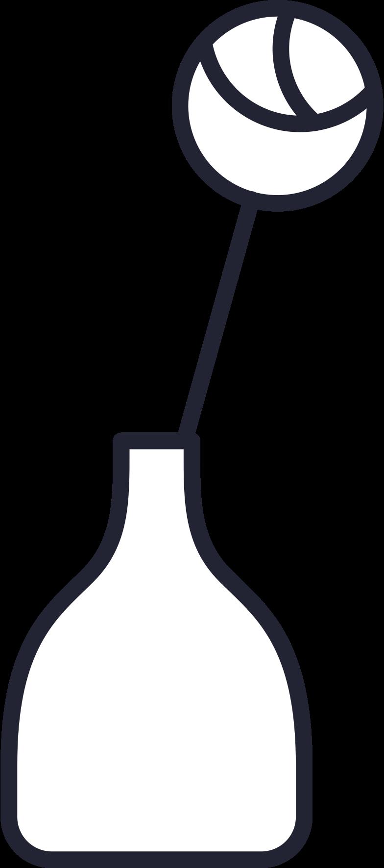 flower in vase Clipart illustration in PNG, SVG