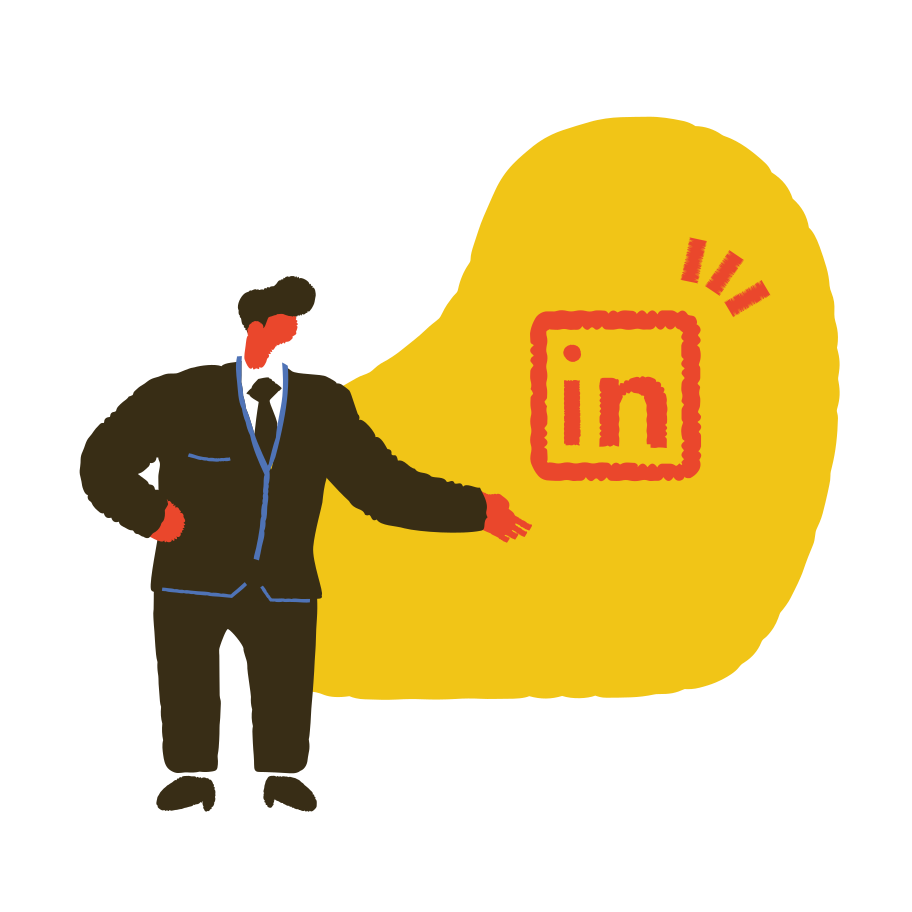 Importance of Linkedin profile  Clipart illustration in PNG, SVG