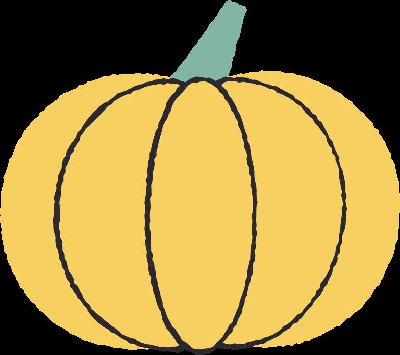 Ilustración de clipart de pumpkin en PNG, SVG