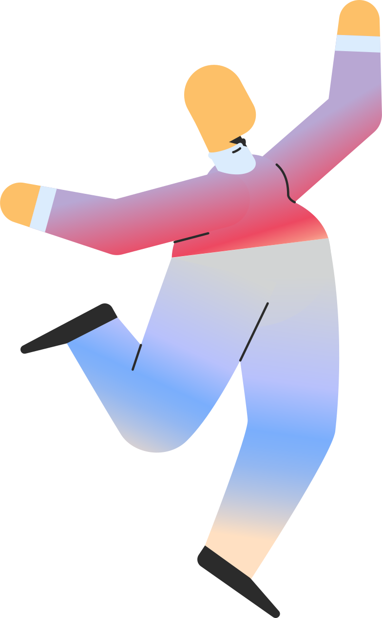 chubby adult jumping Clipart illustration in PNG, SVG