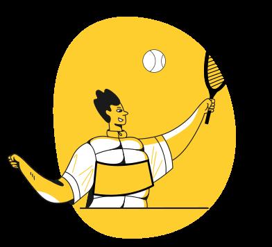 Иллюстрация Большой теннис в стиле  в PNG и SVG | Icons8 Иллюстрации