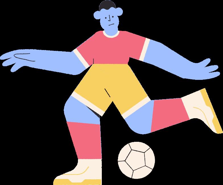 footballer Clipart illustration in PNG, SVG