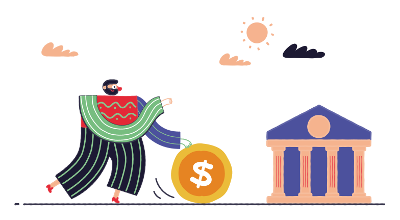 Last loan payment Clipart illustration in PNG, SVG