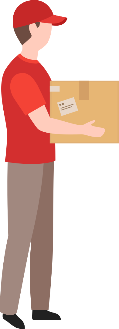 style delivery man holding box images in PNG and SVG | Icons8 Illustrations