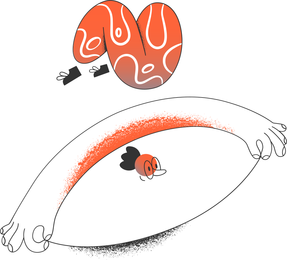 man upside down Clipart illustration in PNG, SVG