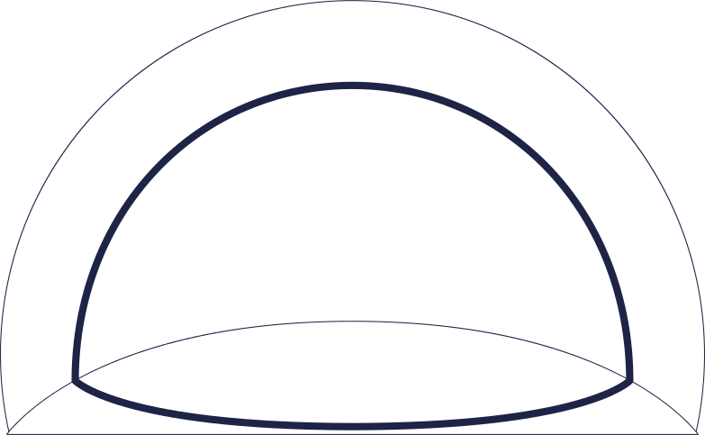 space dome line Clipart illustration in PNG, SVG