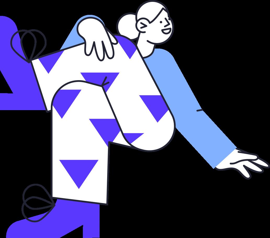 Illustration clipart Femme sur balançoire aux formats PNG, SVG