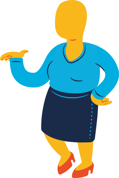 style chubby woman standing profile images in PNG and SVG | Icons8 Illustrations