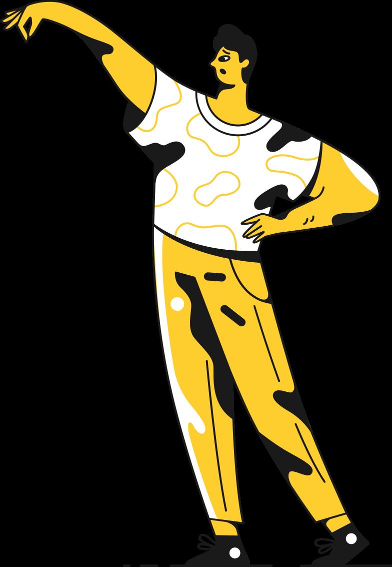 man holding Clipart-Grafik als PNG, SVG