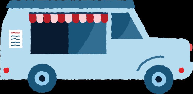 food truck Clipart illustration in PNG, SVG