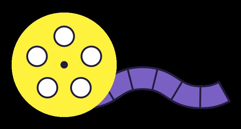 film strip Clipart illustration in PNG, SVG