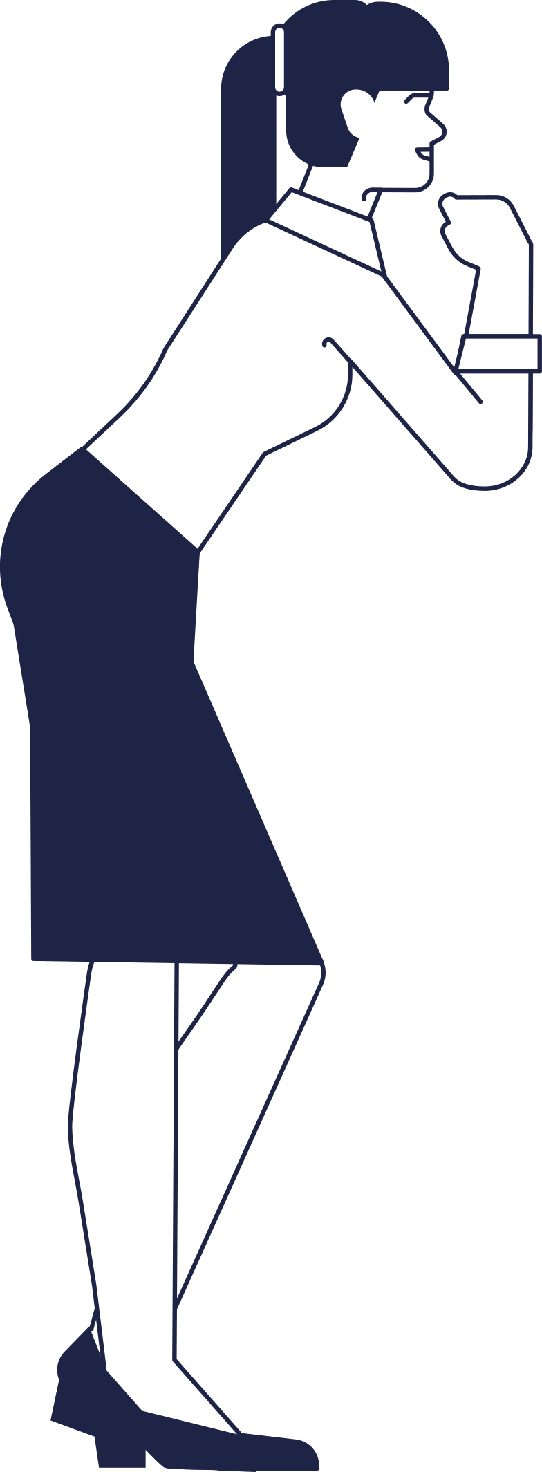 woman at standing cafe Clipart illustration in PNG, SVG