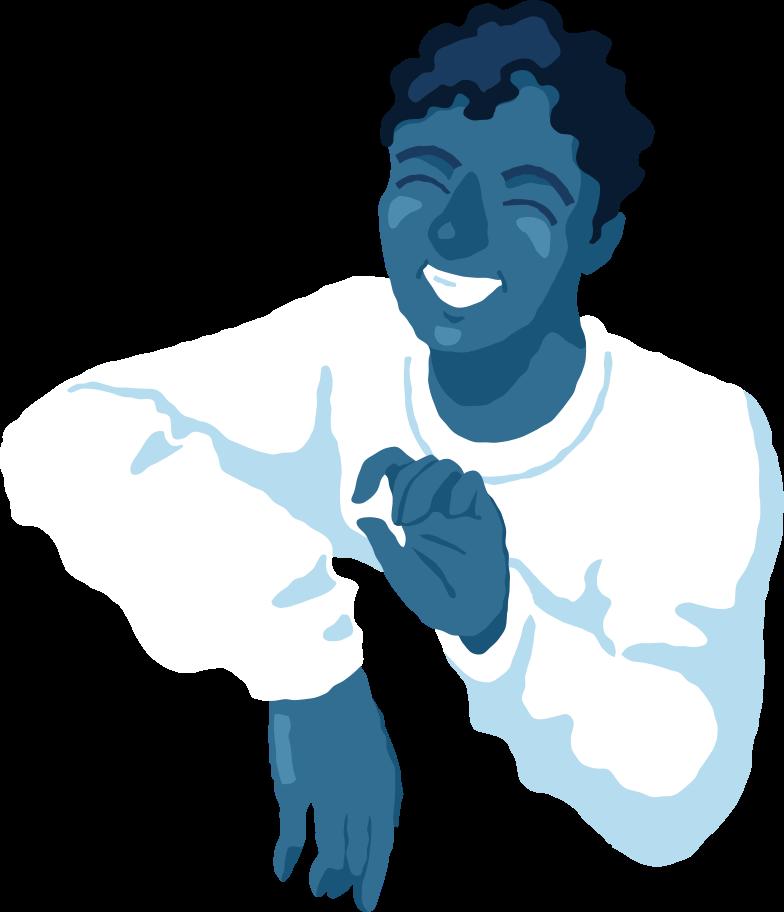 happy man torso front Clipart illustration in PNG, SVG