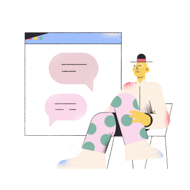 style Online service chat  images in PNG and SVG | Icons8 Illustrations