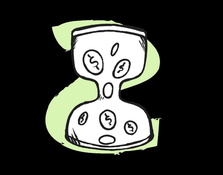 zeit ist geld Clipart-Grafik als PNG, SVG