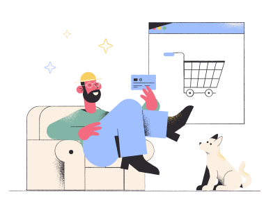 style Online shopping order images in PNG and SVG | Icons8 Illustrations