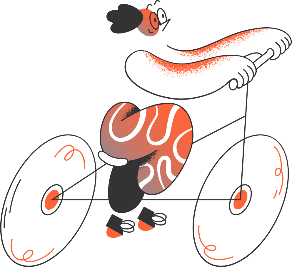 style man on the bicycle Vector images in PNG and SVG | Icons8 Illustrations