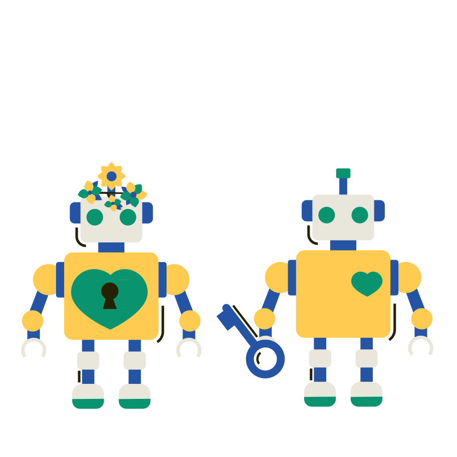 style Robot Love Vector images in PNG and SVG | Icons8 Illustrations
