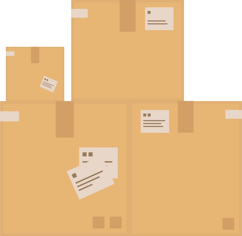 stack of boxes Clipart illustration in PNG, SVG
