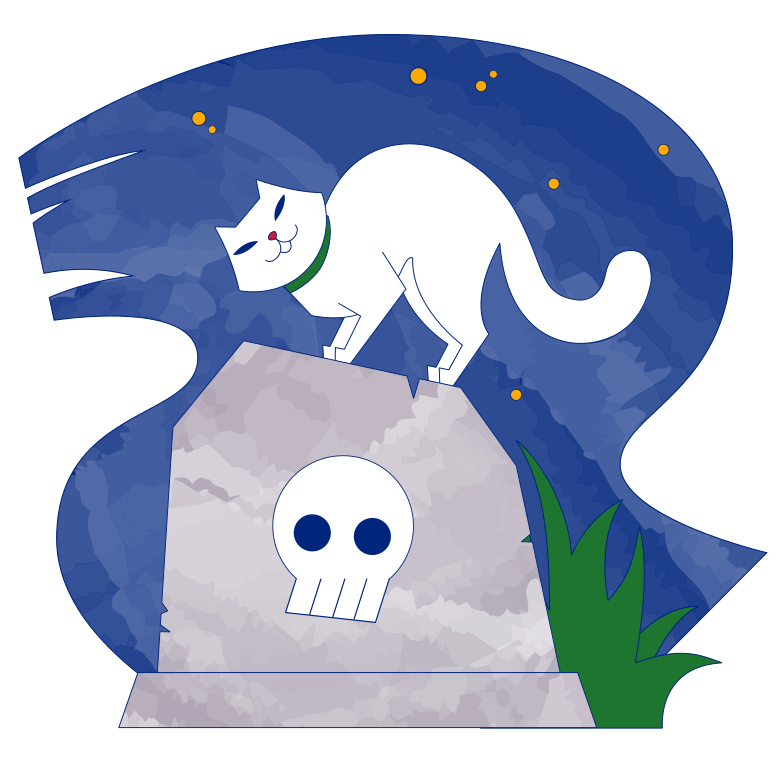 Cemetery night Clipart illustration in PNG, SVG