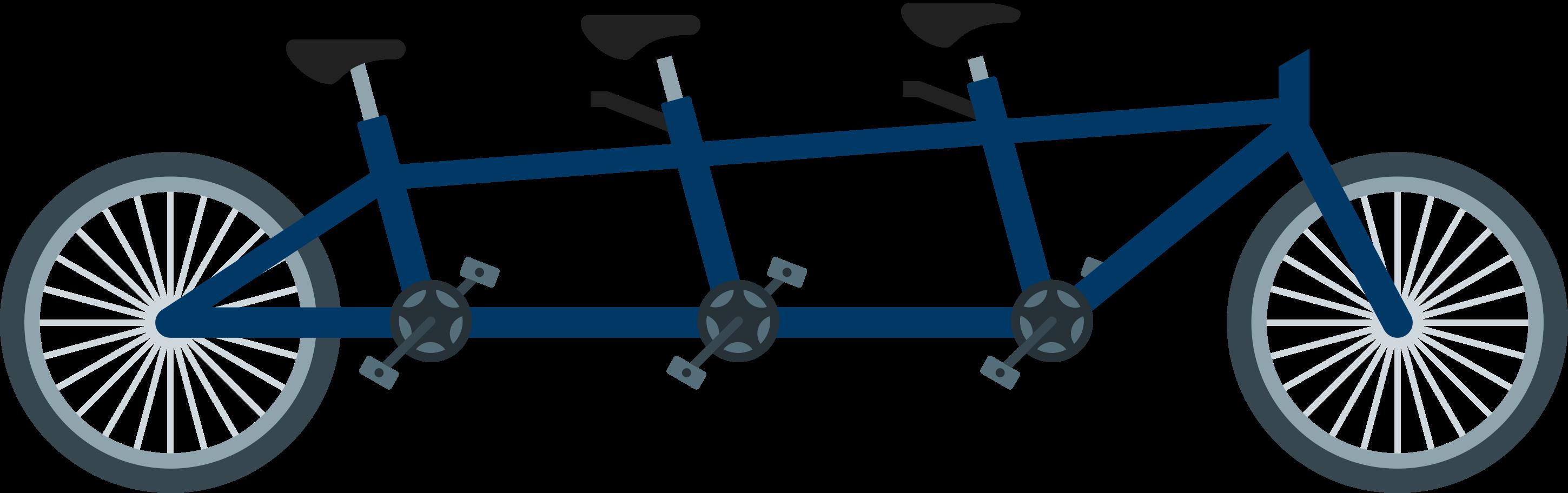 Ilustración de clipart de bicicleta tándem en PNG, SVG