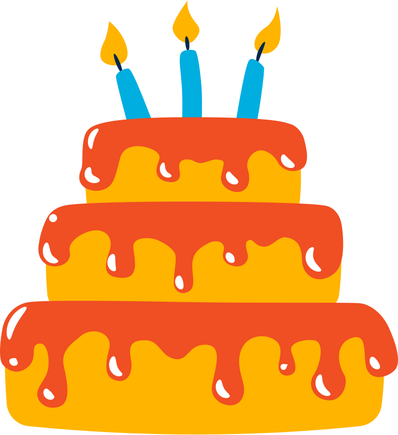 style cake with 3 candles Vector images in PNG and SVG | Icons8 Illustrations