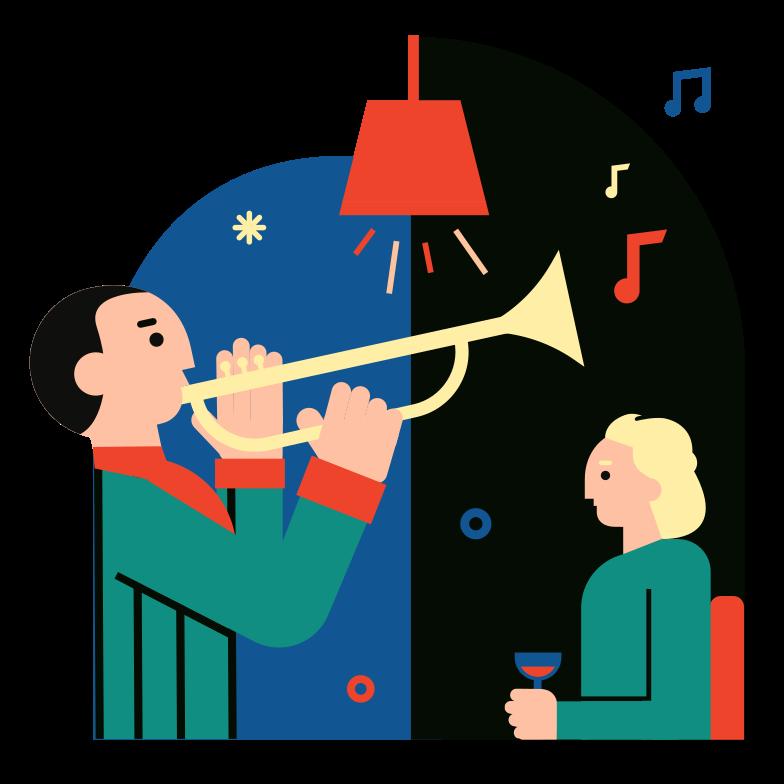 Live music Clipart illustration in PNG, SVG