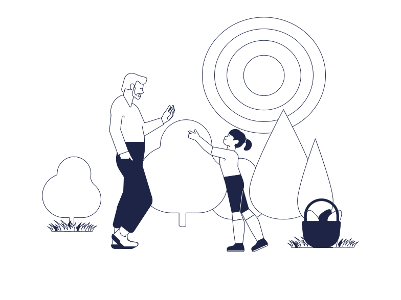 Egg Hunting Clipart illustration in PNG, SVG