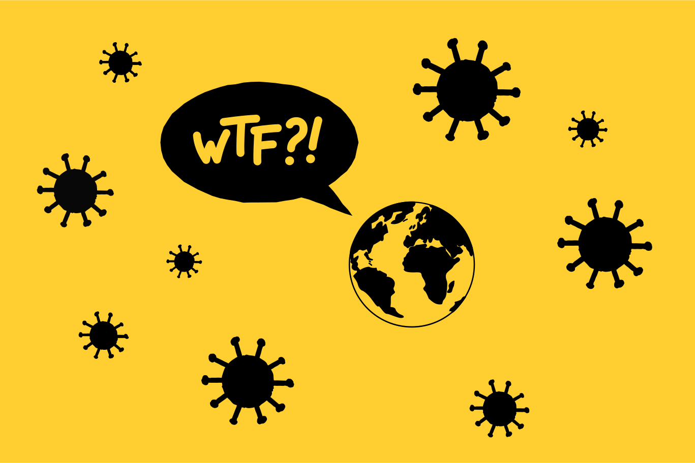 Virus is everywhere Clipart illustration in PNG, SVG