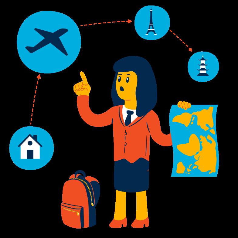 Travel planning Clipart illustration in PNG, SVG