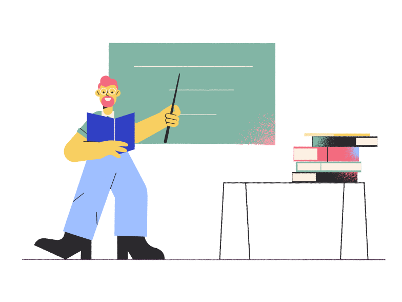 style School teacher in the classroom Vector images in PNG and SVG | Icons8 Illustrations