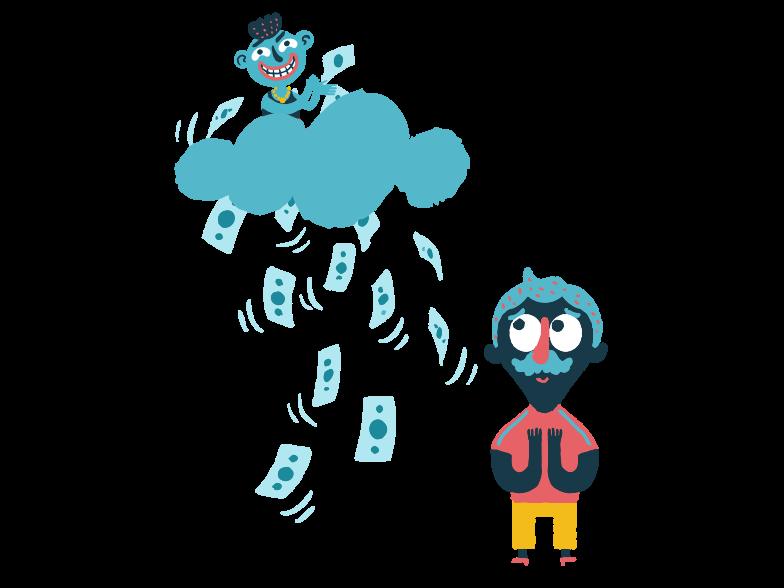 Easy money Clipart illustration in PNG, SVG