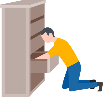 style man searching in the drawer images in PNG and SVG | Icons8 Illustrations