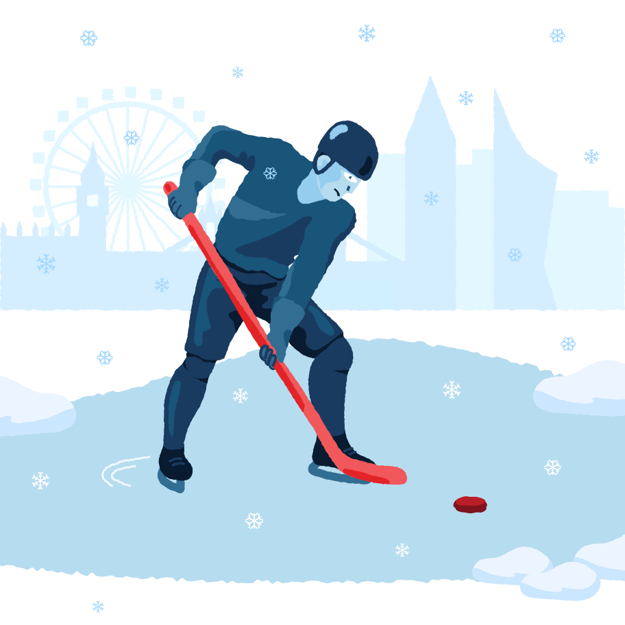 Lake hockey Clipart illustration in PNG, SVG