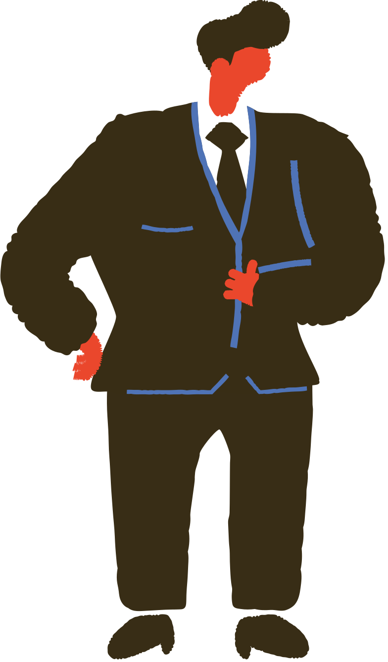 man in a suit Clipart illustration in PNG, SVG