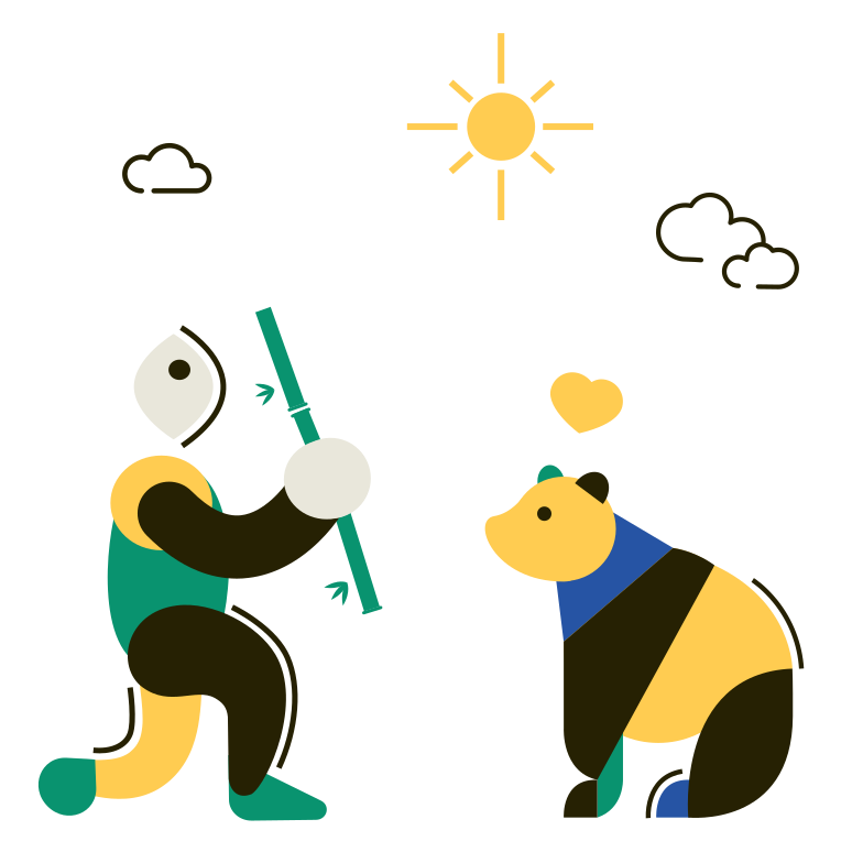 style Panda and bamboo Vector images in PNG and SVG | Icons8 Illustrations