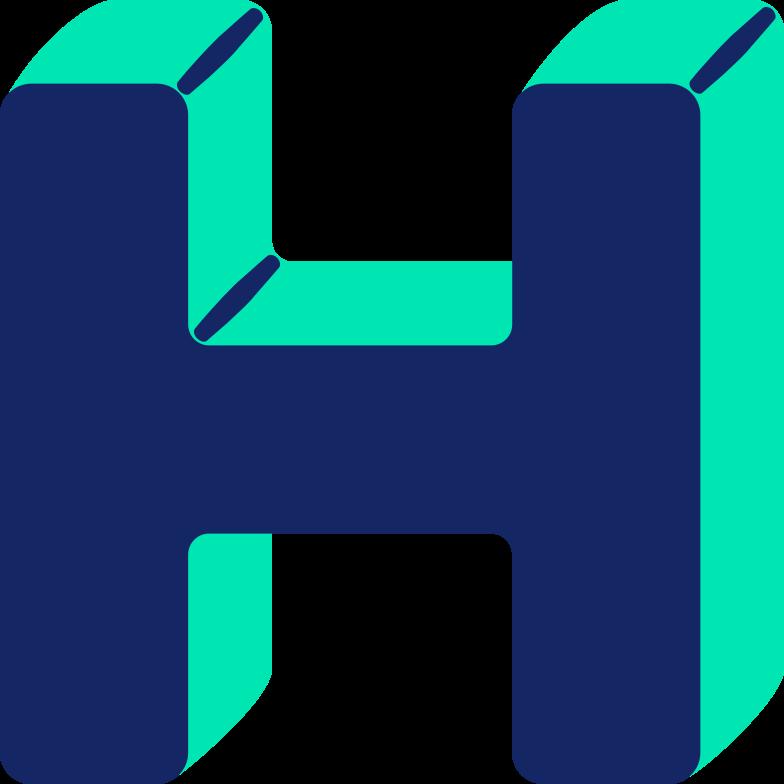 letter h Clipart illustration in PNG, SVG