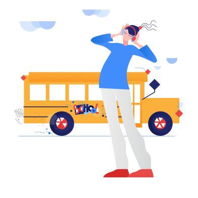 style Pupil and school bus images in PNG and SVG   Icons8 Illustrations