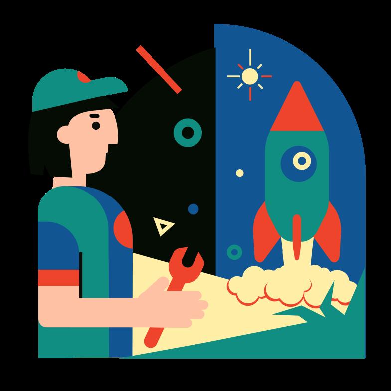 Rocket Science Clipart illustration in PNG, SVG